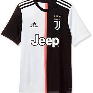 adidas Juventus Home Jersey Youth Maglietta da Calcio A Maniche Corte Bambino NeroBianco 1112