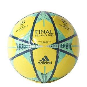 Adidas Pallone Da Calcio Finale Milano Capitano  Shock GialloMineraleGreen Si Illumina 38