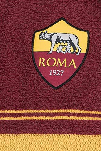 AS Roma 8907 020 2140 Set Asciugamano e Ospite in Spugna 100 Cotone GialloRosso 100x60x1 cm