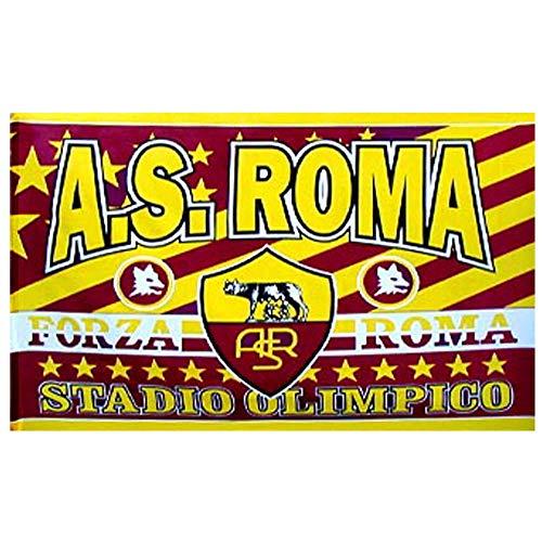 AS Roma  Bandiera Gigante Serie A 100 Poliestere 136 x 86 cm