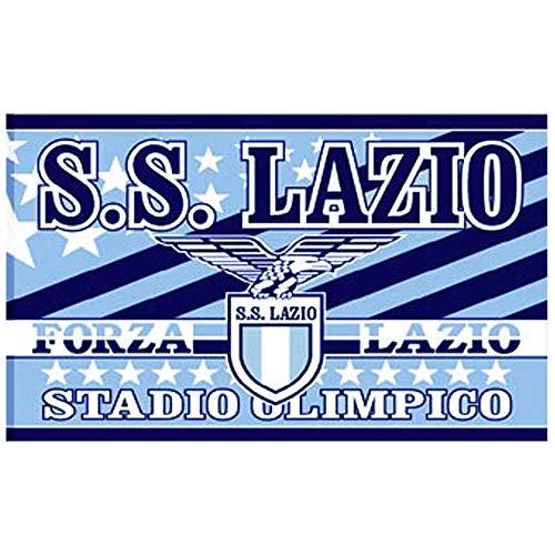 Bandiera da calcio gigante SS Lazio serie A 100 poliestere e 130 cm x 90 cm