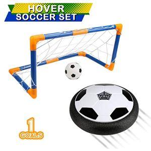 BelleStyle Air Hover Calcio Aria Power Soccer con Calcio Obiettivo Colore LED Illuminazione Bambini Schiuma Paraurti Calcio Giocattoli per Interni ed Esterni
