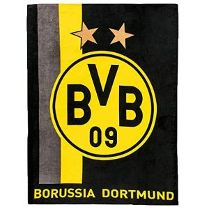 Borussia Dortmund Coperta in pile con motivo a righe nerogiallo