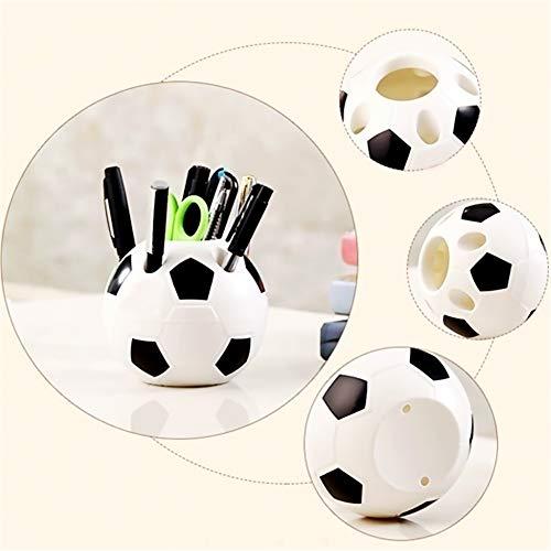 Bweele Portapenne Calcio cancelleria Matita Organizer Set scrivania Accessori Ufficio Scuola Tondo Contenitore Scatola da tavolino con Calcio Stile Design per Bambini Bambini