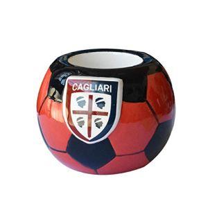 CAGLIARI CALCIO portapenne e matite in ceramica a forma di pallone circa 85 cm