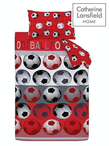 Catherine Lansfield Sleep Set Copripiumino Singolo Calcio  rosso  135 x 200cm