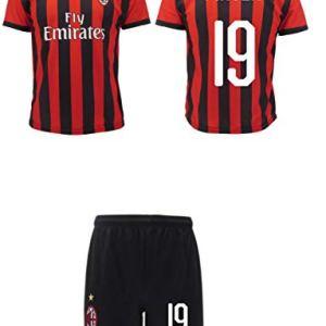 Completo Piatek Milan Ufficiale 20182019 AC Adulto Bambino Krzysztof Numero 19 Maglia  Pantaloncini Ufficiali XL Adulto