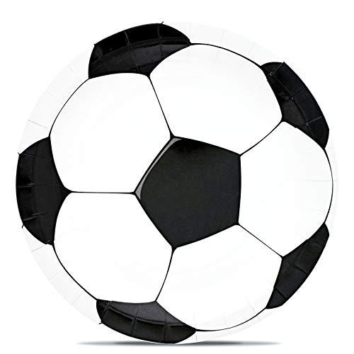 Confezione da 80 piatti di carta a tema sportivo 229 cm calcio
