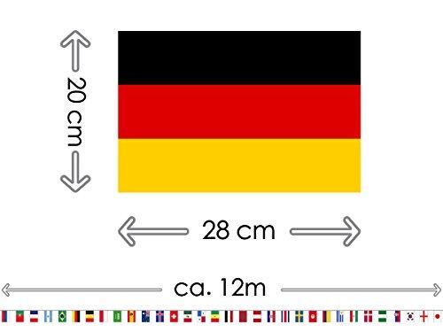 CoolChange ghirlanda con bandiere dei 32 paesi partecipanti alla coppa del mondo di calcio 2018 lunghezza 12m dimensione bandiere 275x20 cm con fattura IVA corrispondente