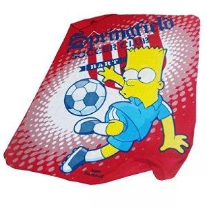 Copriletto Simpsons Bart Simpson coperta per bambini calcio