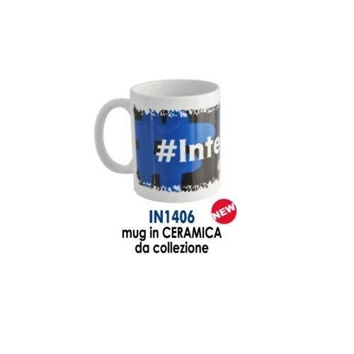 Giemme articoli promozionali  Tazza Mug Ceramica Hastag Inter Prodotto Ufficiale Idea Calcio Regalo