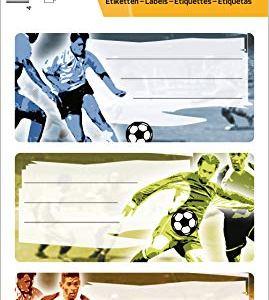 HERMA 5598Etichette Nome Quaderno per la scuola motivo Calcio formato 76x 35cm contenuto confezione 9Etichette
