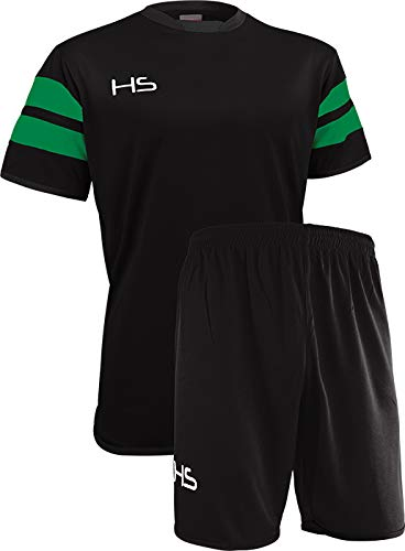 HS S17 Kit Calcio Unisex  Adulto NeroVerde M