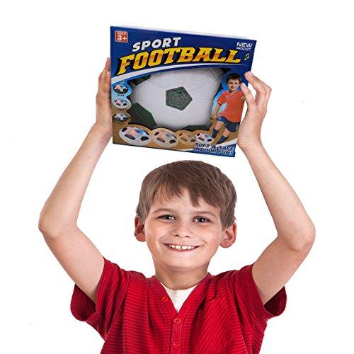 JRDBS WINL Pallone da Calcio da Casa Fluttuante Aria Hover Calcio da Interno con LED Luce A Regalo di Compleanno per Un Bambino di 312 AnniBlu 02