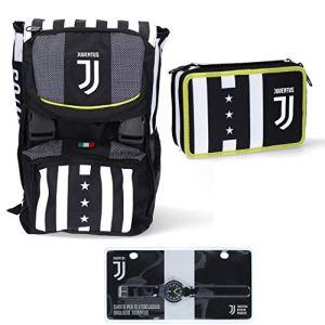 Juventus Schoolpack 20202021 Zaino Seven Sdoppiabile con Astuccio 3 Zip Completo di Cancelleria e Orologio in Omaggio  100 Originale  100 Prodotto Ufficiale