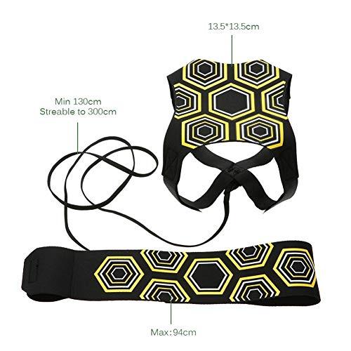 Kit per lAllenamento Trainer da Calcio allenamento per calciare corda dellistruttore di calciogettare le sole attrezzature per la pratica Regolabile per Bambini e Adulti Adatto per Ball 3 4 e 5