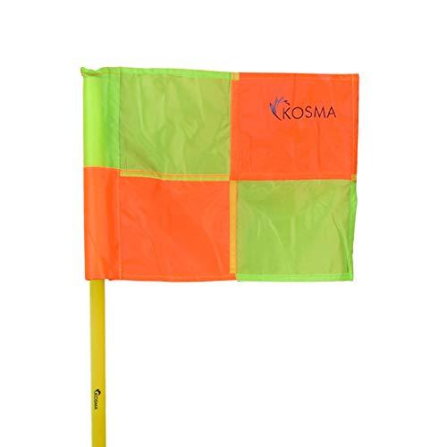 Kosma set di 4 Bandiere  Formazione di calcio bandiere con il polo