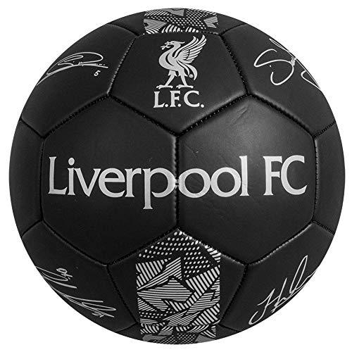 Liverpool FC Signature  Pallone da calcio misura 5 colore Nero