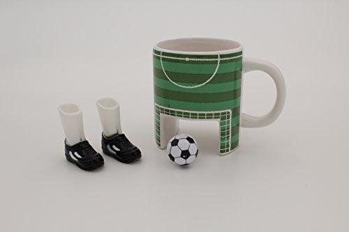 MAGS Sport 320  Tazza da caff con pallone e scarpe in ceramica 12 cm colore VerdeBianco
