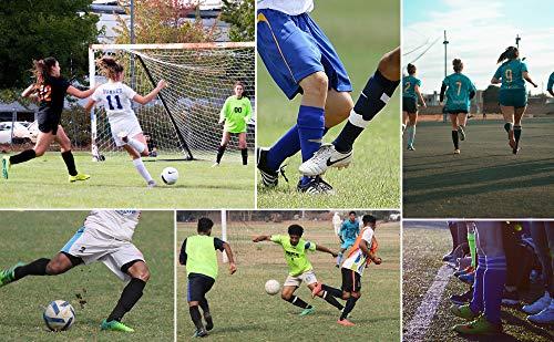 Meteor Parastinchi da Calcio Perfetto per Allenamento e Partite per Bambini di Adolescenti e Adulti dalla plastica  Ultraleggera equipaggiamento de Football per Ragazzi Ragazze 1 Paio XS Bianco