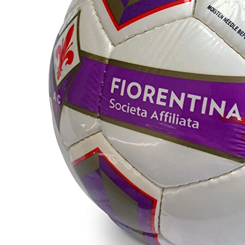 Mondo Sport pallone Calcio Cucito AC Fiorentina 4380 gProdotto UfficialeColore violarossobianco13391 Pallone Match PRO 4 Unisex  Adulto Bianco Verde SIZE 4