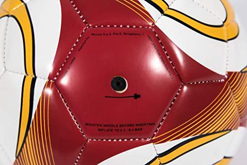 Mondo Sport  Pallone da Calcio cucito AS Roma  size 2  220 g  Colore giallorossobianco  13889