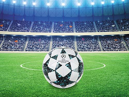 Mondo Toys  Pallone da Calcio da Uomo  Uefa Champions League  size 5  400 g   Colore BiancoNeroBlu  13846