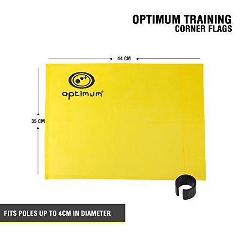 OPTIMUM Formazione Angolo Bandiere Confezione da 4 Colore Rosso Unisex Training Giallo