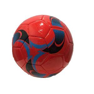 Pallone di Cuoio da Calcio Misura 5 Ecopelle PU Cuoio Sintetico ROSSO2