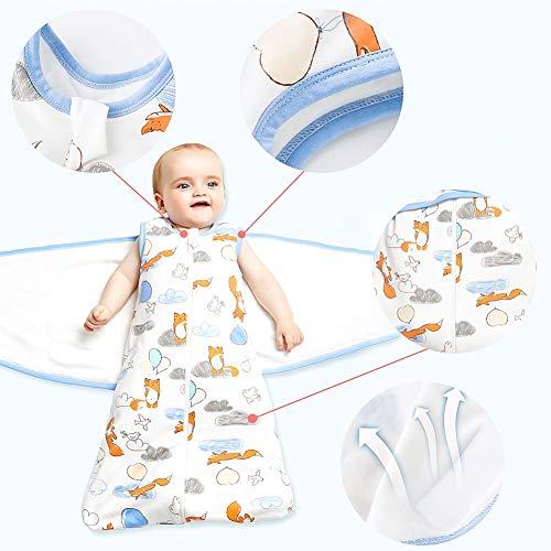 Phiraggit Sacco nanna per bambini Sacco a pelo simpatico cartone animato animale sacco a pelo senza maniche estivo 05 Tog per neonati 06 mesi