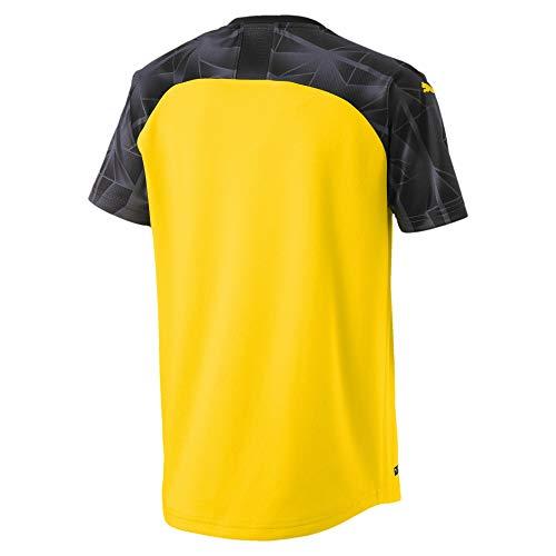 PUMA BVB Cup Shirt Replica Jr with Evonik Without Opel Logo Maglia Calcio Bambino Cyber YellowBlackEbony 176