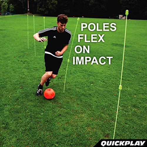 Quickplay PRO Paletto ad Altezza Regolabile per Esercizi di agilitAste da Allenamento Set da 12