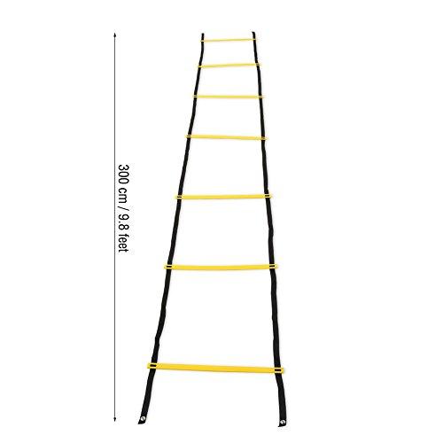 Scala Agilit Scaletta 3m 7Rung Speed Agility Ladder per Allenamento Calcio  Pallacanestro