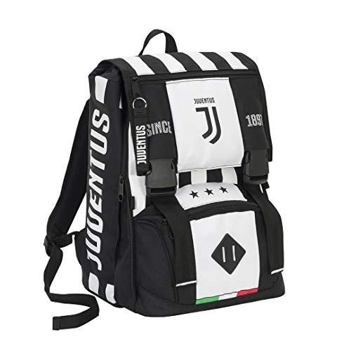 SEVEN SPA FC Juventus  Schoolpack Juventus League  Zaino Sdoppiabile  Astuccio Quick Case Completo Di Cancelleria con Orologio Ufficiale Lowell In Omaggio