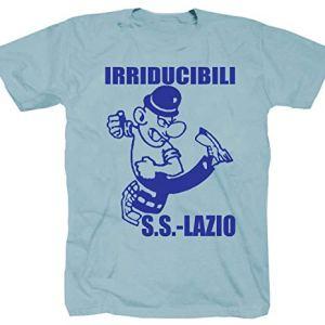 Shirtzshop  Maglietta a maniche corte motivo Semper Avanti Ultras Roma colore Blu Azzurro S