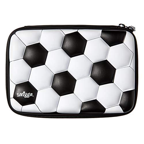 Smiggle Goal astuccio portamatite rigido per ragazzi e ragazze reversibile con lustrini e portapenne interni  Stampa di calcio