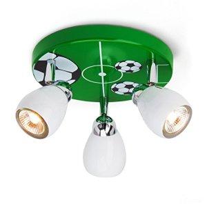 Soccer plafoniera a LED da calcio  31 cm 3x 25W GU10 LED incl 3x 250 Lumen 3000K bianco caldo metallo biancoverdenerobianco