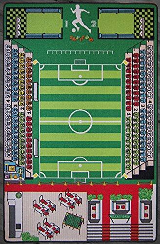 TAPITOM Tappeto Calcio Campo  Coperta Morbida del Rilievo della stuoia della stuoia di Gioco del Tappeto da Calcio dei campi del Campo da Calcio 200 X 130 cm