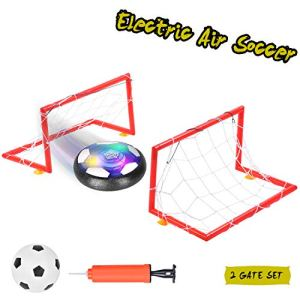 Ulikey Pallone da Calcio da Casa Fluttuante Air Football Calcio da Interno Hover Ball LED Lampeggiante Ball con 2 Porte Training Football Giocattoli Sportivi per Bambini Natale Regalo