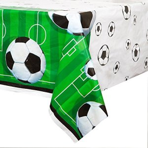 Unique Party 27303  Tovaglia Plastificata Calcio 213 cm x 137 cm