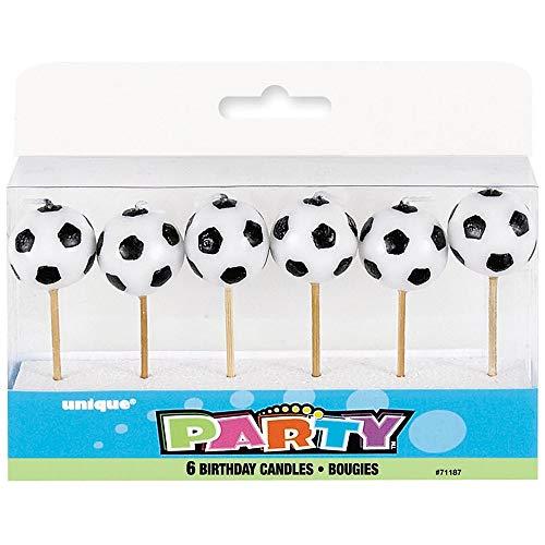 Unique Party 71187  Candele a Forma di Pallone Confezione da 6
