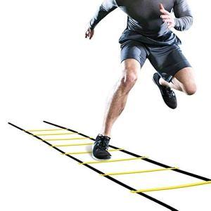 Wallfire scaletta da Calcio Allenamento 4 m flessibilit di Calcio velocit Allenamento Fitness scaletta da Allenamento a 8 gradini Regolabile agilit di Allenamento con Borsa per Il Trasporto