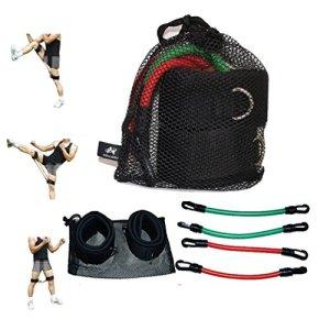 Wellsem elastici di resistenza per allenare lagilit e la forza delle gambe attrezzatura per gli esercizi di fitness e taekwondo