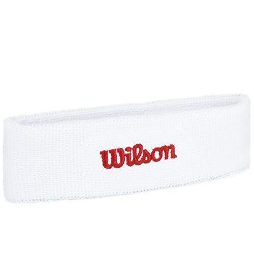 Wilson WR5600110 Fascia da Tennis in Spugna Taglia Unica Bianco