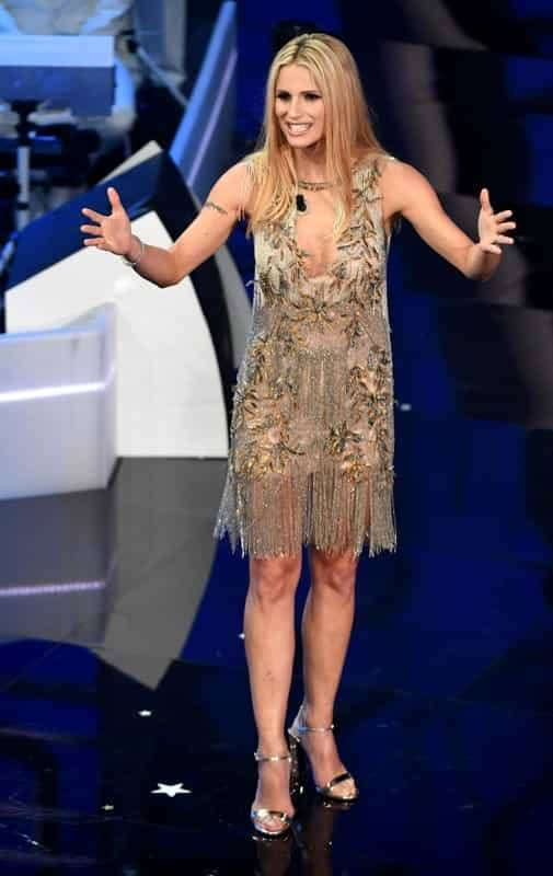 Tutti gli abiti di Michelle Hunziker a Sanremo 2018