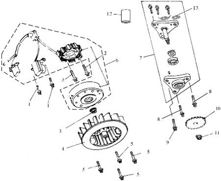 Vis M6 x 22 pour scooter Baotian BT49QT-7, Piecés Baotian