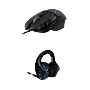 Pack Logitech souris gaming G502 Proteus Spectrum + Micro-casque sans-fil 7.1 Pro Gaming G933 Artemis Spectrum