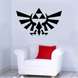 Zelda Triforce Gaming Removable Wall Sticker Art Home Office Room Mural Decor Vehicle Car Truck Window Bumper Graphic Decal- (20 inch) / (50 cm) Wide MATTE BLACK Color by StickerLove