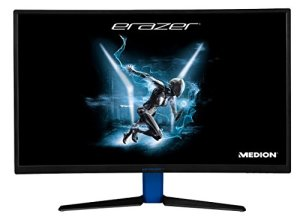 Medion Erazer x57425 Gaming Moniteur (Curved, Full HD, 144 HZ, freesync, HDMI, DisplayPort, Temps de réponse 4 ms, Inclinaison réglable Noir