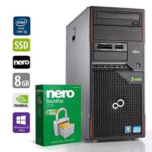 PC Gamer Multimédia Unité Centrale Fujitsu W410 – Core i5-2500 @ 3,3 GHz – 8Go RAM – 1 to HDD – 240Go SSD – Nvidia GTX 1050 – Lecteur DVD – Win10 Pro 64 Bits (Reconditionné Certifié)